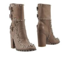 Studded Nude Ankle Boot